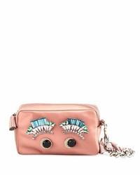 Diamante eyes satin clutch bag blush medium 5359796