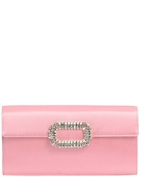 Roger vivier pilgrim silk satin swarovski clutch medium 608803