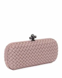 Satin elongated knot clutch bag medium 3697641