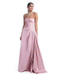 Pink Satin Evening Dress