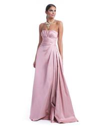Pink Satin Evening Dress