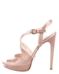 Prada Satin Crossover Sandals