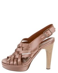 Lanvin Satin Multistrap Sandals