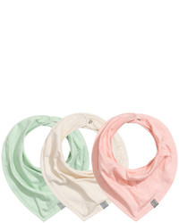 H&M 3 Pack Triangular Scarves Light Pink Kids