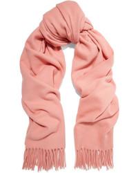 Acne Studios Canada Fringed Wool Scarf Pink