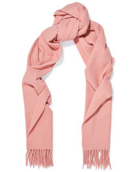 Acne Studios Canada Narrow Fringed Wool Scarf Pink