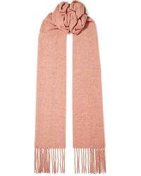 Acne Studios Canada Skinny Fringed Mlange Wool Scarf