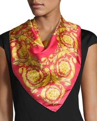 Versace Circular Swirl Foulard Scarf Pink