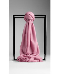 Burberry Embroidered Lightweight Cashmere Scarf
