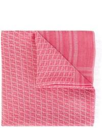 Fendi Kids Ff Logo Knit Scarf