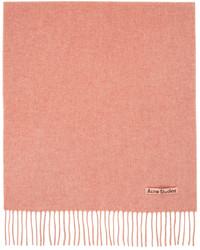 Acne Studios Pink Wool Narrow Scarf