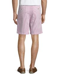 Peter Millar Seersucker Flat Front Shorts Pink Confetti