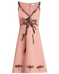 Gucci Trompe Lail Sequin Bow Sleeveless Cady Dress