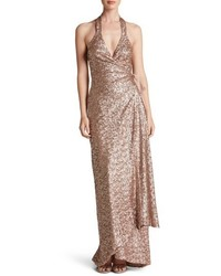 Giselle sequin wrap gown medium 5209565