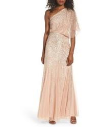 Sequin one shoulder gown medium 4423564