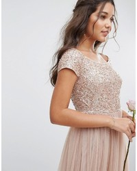 88945144b1e Maya Bardot Maxi Dress With Delicate Sequin And Tulle Skirt, $135 ...