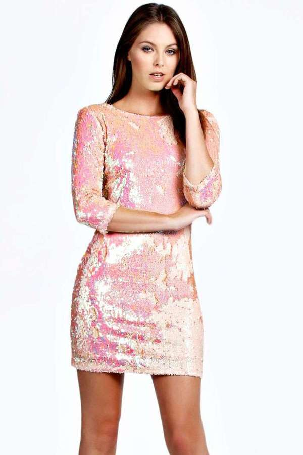Boohoo Becca Sequin Bodycon Zip Back Dress | Where to buy & how to wear