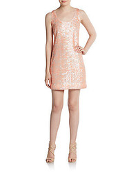 Shoshanna sequined racerback shift dress medium 268276