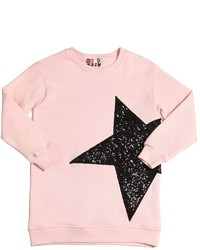 MSGM Star Sequins Cotton Sweatshirt