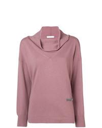 Pink Shawl-Neck Sweater