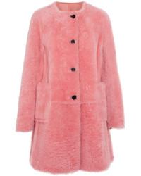 Marni Reversible Shearling Coat Pink