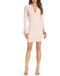 Crystal choker bell sleeve sheath dress medium 5309206