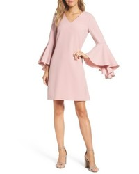 Bell sleeve crepe shift dress medium 5170025