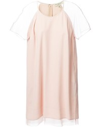 Burberry London Sheer Sleeves Shift Dress