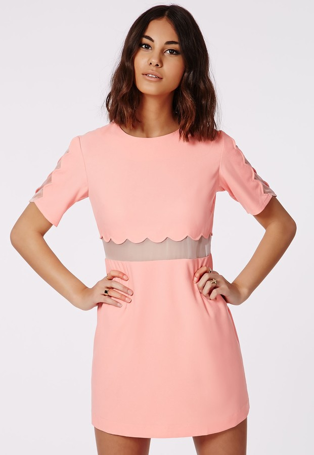 Robe droite rose pastel
