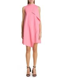 Oscar de la Renta Ruffle Double Face Stretch Wool Dress