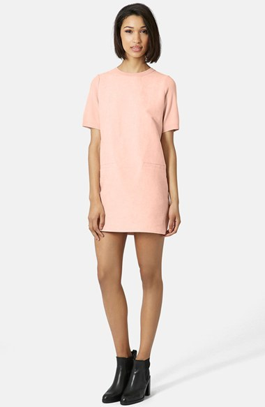 Topshop Suede Front Shift Dress | Where to buy & how to wear