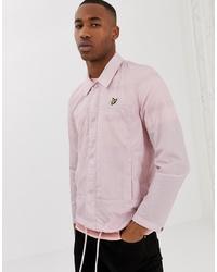 Lyle & Scott Light Weight Logo Coach Jacket In Pink