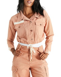 ETICA Sloane Canvas Crop Jacket