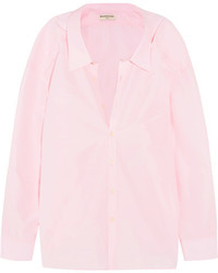 Balenciaga Oversized Cotton Blend Shirt Baby Pink