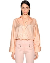 Nina Ricci Oversized Silk Satin Shirt