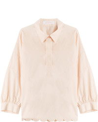 See by Chloe See By Chlo Cotton Shirt With Scalloped Hem