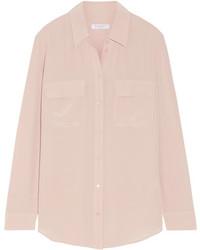 Equipment Slim Signature Washed Silk Shirt Blush