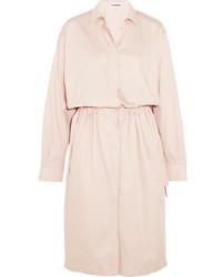 Jil Sander Cotton Shirt Dress Pastel Pink