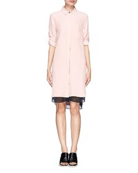 Rag and Bone Rag Bone Layered Silk Shirt Dress