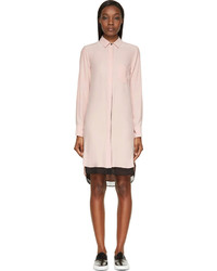 Rag and Bone Rag Bone Pink Silk Shirt Dress