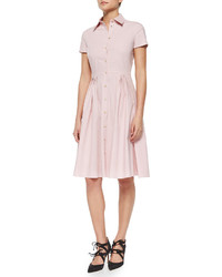 RED Valentino Short Sleeve Full Skirt Shirtdress