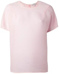 Carven Sheer Short Sleeve Blouse