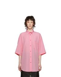 Balenciaga Pink Lyocell Fluid Shirt