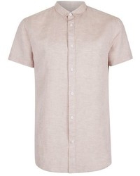 Selected Homme Light Pink Short Sleeve Shirt