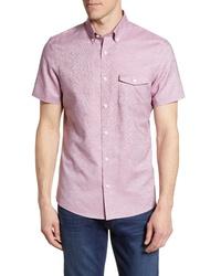 Nordstrom Men's Shop Nordstrom Shop Slim Fit Short Sleeve Shirt