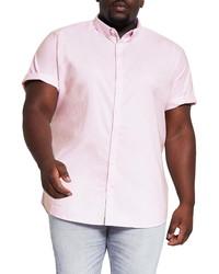 River Island Regular Fit Oxford Short Sleeve Stretch Shirt