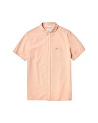 Lacoste Regular Fit Short Sleeve Seersucker Shirt