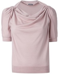 Alexander McQueen Twisted Effect Knit Top