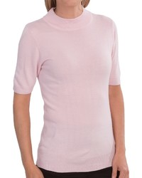 Ib Diffusion Sweater Mock Neck Short Sleeve