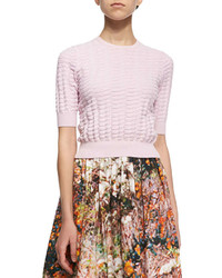 Carven Relief Textured Knit Sweater